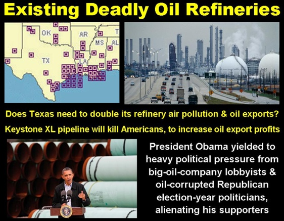 Existing Deadly Texas Oil Refineries