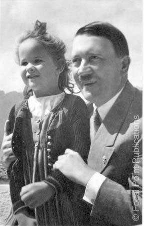 Adolf Hitler Posing With An Innocent Little Girl